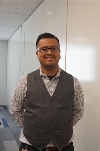 ▲미국 캐임브릿지 매스 이노베이션 랩(Mass Innovation Lab)에서 만난 Amrit Chaudhuri 대표