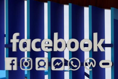 ▲20일(현지시간) 프랑스 칸에서 열린 칸국제광고제에 설치된 페이스북 패널. 칸/로이터연합뉴스