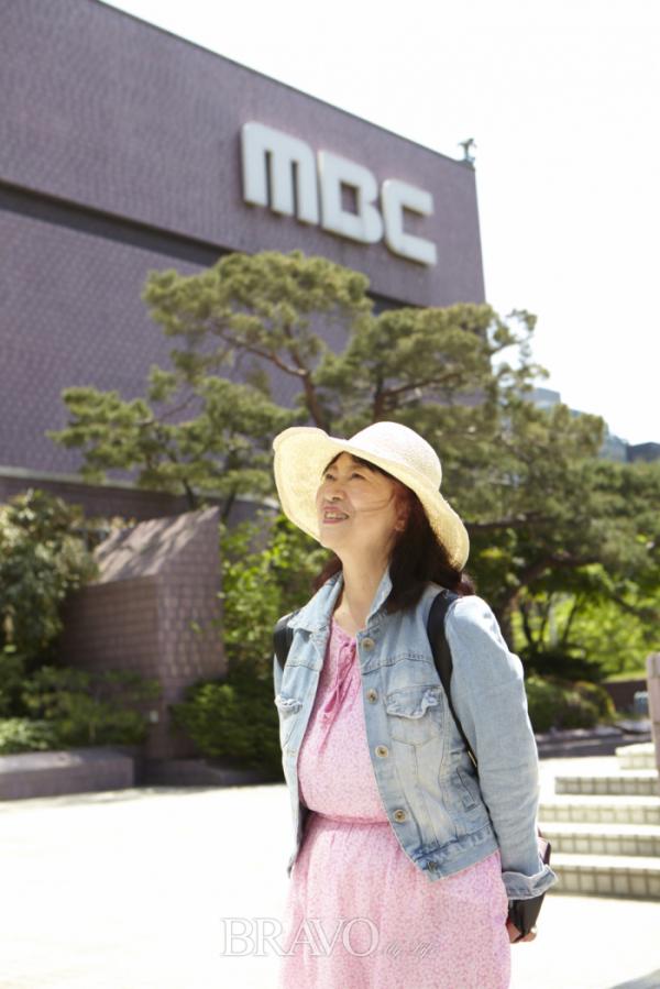 ▲아들 김성재와 함께 왔었던 여의도 MBC 공개홀 앞.(사진 박규민 parkkyumin@gmail.com)