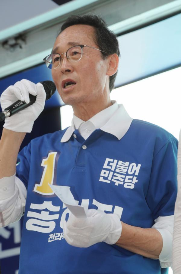 ▲송하진 더불어민주당 전북지사 후보(연합뉴스)