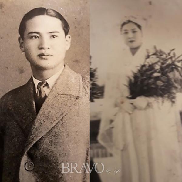 ▲젊은 시절 안영희 동년기자의 시아버지와 시어머니(사진 안영희 동년기자 제공)