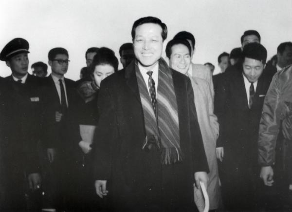 ▲1962년 전권대사 자격으로 한일협정에 나선 당시 김종필 중앙정보부장. 연합뉴스