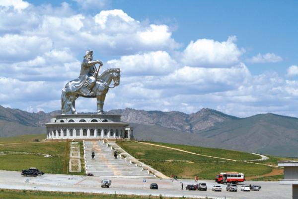 ▲칭기즈칸 동상(사진제공 몽골리아세븐데이즈)