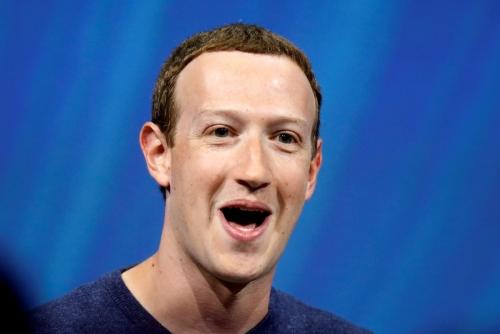 ▲마크 저커버그 페이스북 CEO가 5월 24일(현지시간) 프랑스 파리에서 열린 비바테크 스타트업 앤드 테크놀로지 서밋에서 연설하고 있다. 파리/로이터연합뉴스