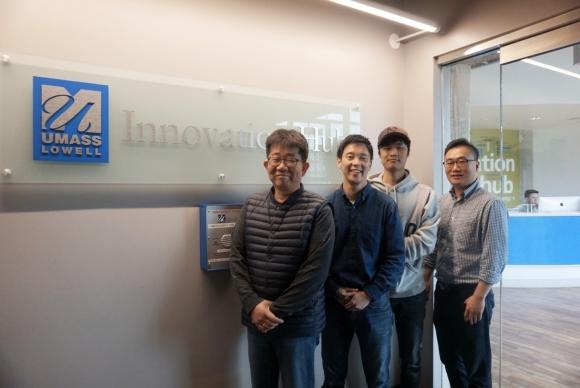 ▲사진 왼쪽부터 이계욱 케이드시스템 대표, 손병욱 Strategic Program Manager, 고석환 Software Engineer, 조정환 Chief Research Scientist