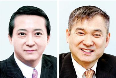 ▲권영수 LG유플러스 부회장(왼쪽)과 하현회 LG 부회장.