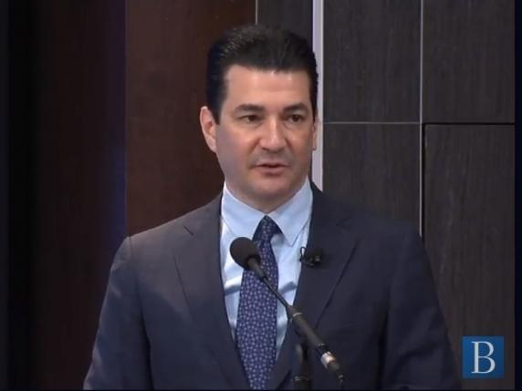 ▲스콧 고틀립(Scott Gottlieb) FDA 위원장이 18일 미국 바이오시밀러 활성화를 위한
