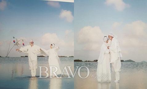 ▲2010년 10월 9일 제주돌문화공원 하늘연못에서 열린 결혼식(베르너 사세 제공)