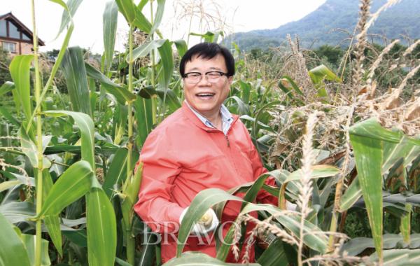 ▲2014년 충북 영동 지역 농촌체험휴양마을 비단강숯마을에서(농림축산식품부대변인실 제공)