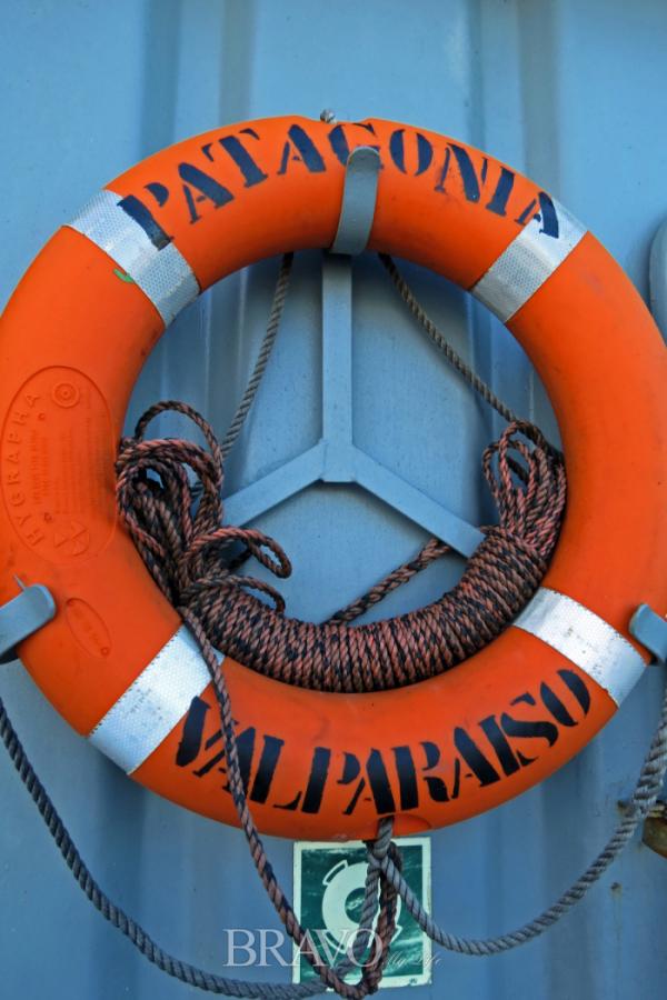 ▲마젤란해협을 건너 우수아이아로 가는 파타고니아 배(이화자 작가 제공)