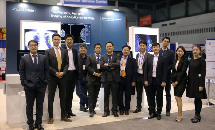 ▲딥러닝 기술 기반의 인공지능(AI) 헬스케어 회사인 루닛 팀