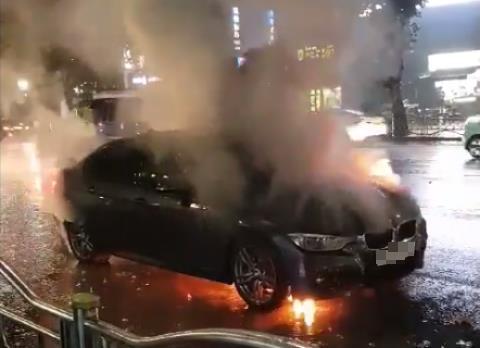 ▲화재가 발생한 BMW 차량(연합뉴스)