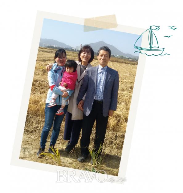 ▲통영 여행에서 잊지못할 시간을 보낸 최원국 동년기자의 가족
