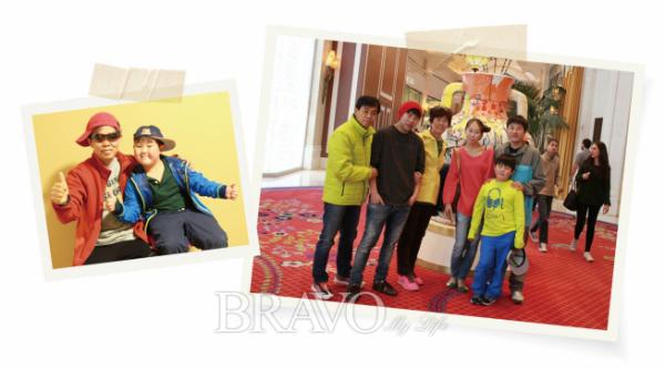 ▲손주와의 첫 여행을 즐기고온 김종억 동년기자와 가족들