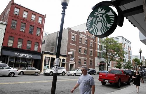 ▲미국 보스턴에 있는 스타벅스 매장. 보스턴/AP연합뉴스