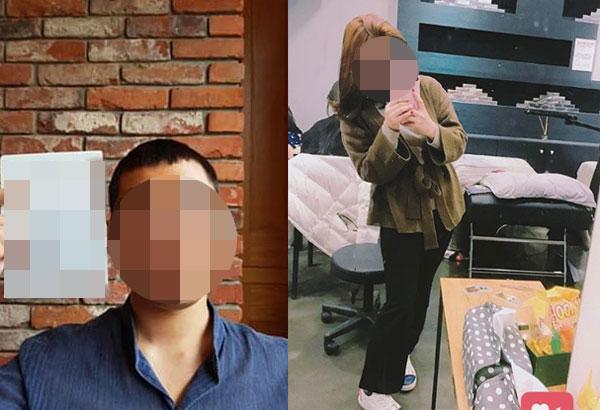 ▲사진 왼쪽이 가해자, 오른쪽이 피해자.(출처=피해자 지인 SNS, 피해자 SNS)
