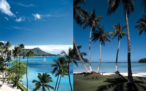 ▲하와이와 괌.