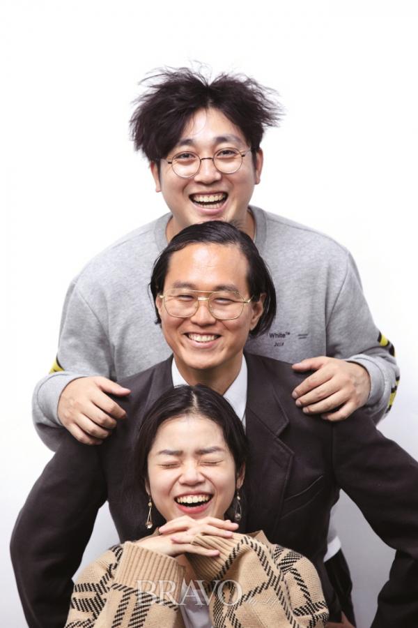 ▲'스파크 뉴스' 팀 (위쪽부터) 정광석, 배욱진, 이화원 씨(오병돈 프리랜서 obdlife@gmail.com)