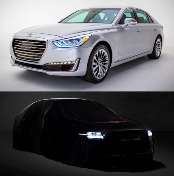▲제네시스 EQ900(사진 위)은 3년 만에 후속모델 G90으로 거듭난다. 이전과 이름은 물론 디자인까지 화끈하게 바꾸면서 신차효과를 누릴 수 있을 것으로 기대된다. (사진제공=제네시스)