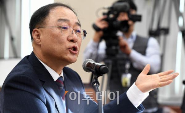 ▲홍남기 경제부총리 겸 기획재정부 장관 후보자