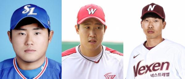 ▲(왼쪽부터 순서대로) 이지영, 김동엽, 고종욱(출처=삼성 라이온즈, SK 와이번스, 넥센 히어로즈 홈페이지)