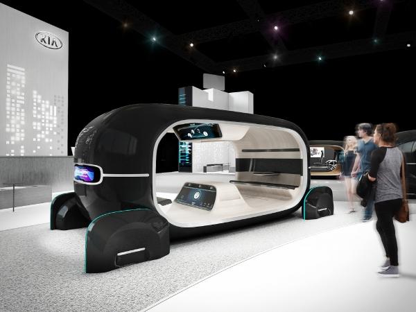 ▲기아차는 CES 2019에서 '감성 주행의 공간'을 전시 테마로 새로운 모빌리티 기술 방향성을 공개한다. '실시간 감정반응 차량제어(R.E.A.D.) 시스템'을 직접 경험해 볼 수 있는 체험형 전시물. 사진제공 기아차