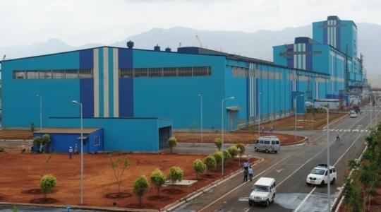 ▲포스코가 2012년 인도 서부 마하라슈트라주에서 준공한 연간 45만톤 규모의 자동차용강판 공장