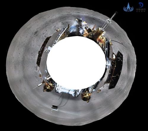 ▲중국의 '창어(嫦娥) 4호'가 촬영한 달 뒷면 파노라마 사진. 중국국가항천국(CNSA)