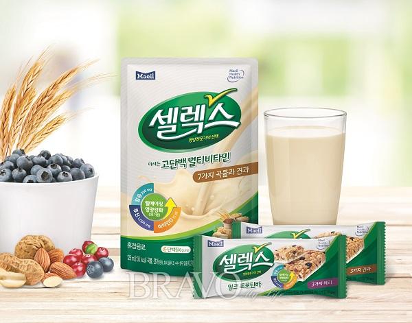 ▲매일유업이 만든 웰에이징 영양전문 브랜드 '셀렉스' 제품(매일유업 제공)