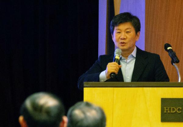 ▲정몽규 HDC 회장은 2019 HDC 경영전략회의에서 사업과 일하는 방식의 진화를 강조했다(사진=HDC현대산업개발)