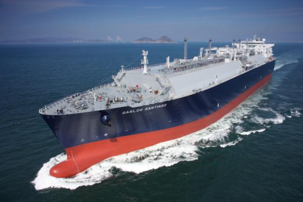 ▲삼성중공업이 수주한 LNG 운반선