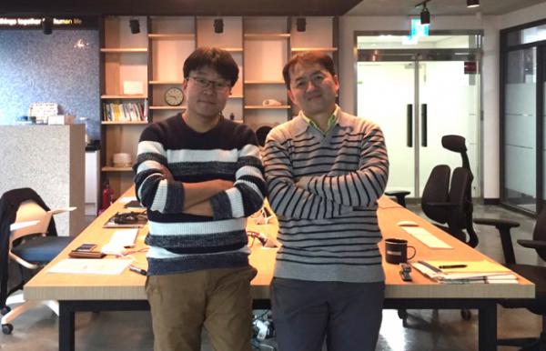 ▲지놈앤컴퍼니의 박한수(왼쪽부터)·배지수 공동대표.