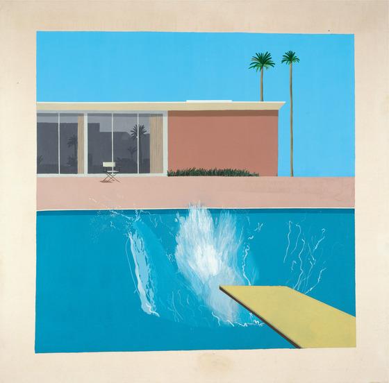 ▲데이비드 호크니, 더 큰 첨벙, 1967, 캔버스에 아크릴릭, 242.5ⅹ243.9 cm David Hockney, A Bigger Splash, 1967, Acrylic on canvas, 242.5ⅹ243.9 cm © David Hockney, Collection Tate, U.K. © Tate, London 2019