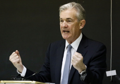 ▲제롬 파월 연방준비제도(Fed·연준) 의장이 20일 기준금리 동결을 발표했다. AP뉴시스