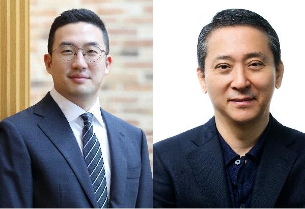 ▲구광모 LG 회장(왼쪽)과 권영수 LG 부회장(오른쪽)(사진제공 LG)