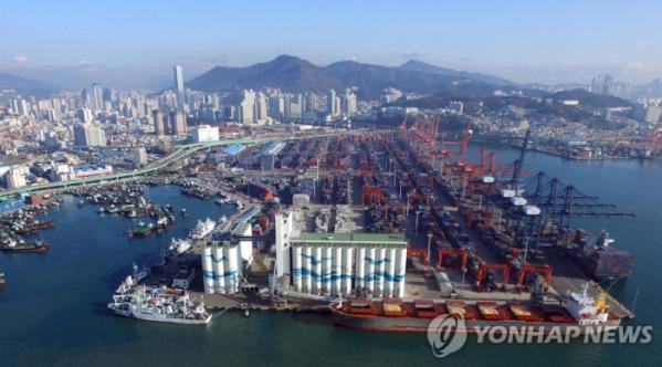 ▲부산항 북항 2단계 재개발 사업지 전경.(연합뉴스)