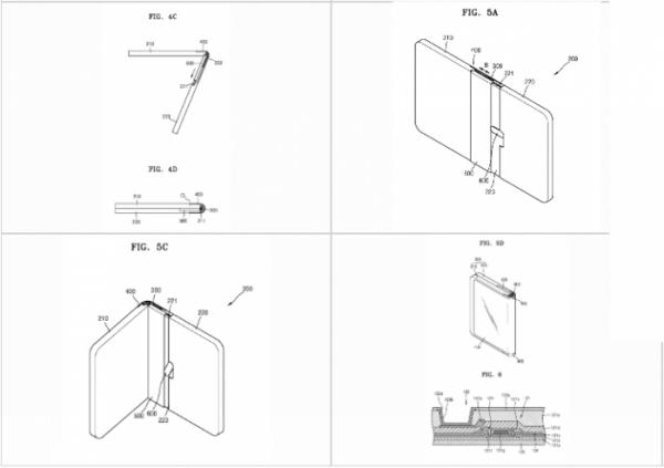 ▲삼성전자가 특허 출원한 '폴더블 디스플레이 장치(Foldable display apparatus)' 도면. (출저=세계지적재산기구(WIPO))