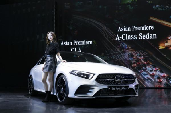 ▲더 뉴 A-클래스 세단이 아시아 최초로 공개됐다. (사진제공=메르세데스-벤츠 코리아)