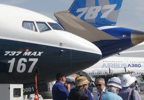 ▲보잉의 787과 에어버스의 A380 모습.(AP뉴시스)