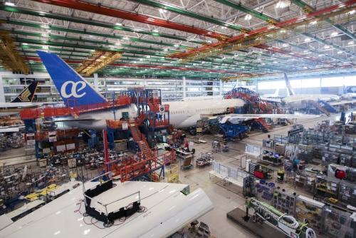 ▲미국 사우스캐롤라이나주 노스찰스턴의 보잉 787드림라이너 생산공장 전경. 노스찰스턴/신화뉴시스