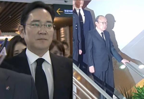 ▲이재용 삼성전자 부회장(왼쪽), 김승연 한화그룹 회장.(출처=연합뉴스, 뉴시스)