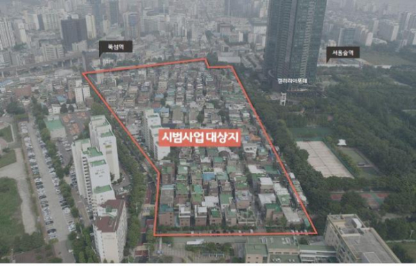▲서울 성수동 '붉은벽돌마을' 사업 대상지역(출처=서울시 )