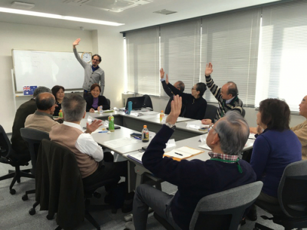 ▲도쿄도가 진행한 도쿄 세컨드 커리어 학당의 수업 장면.