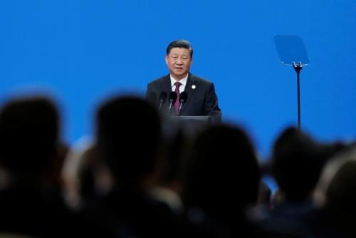 ▲시진핑 중국 국가주석이 15일(현지시간) 베이징에서 열린 아시아문명대화 콘퍼런스 개막식에서 연설하고 있다. 베이징/로이터연합뉴스