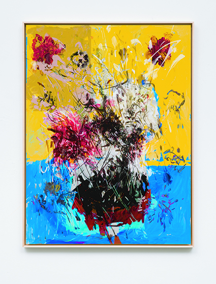 "▲소시에테, Petra CORTRIGHT ZV-Light +""rp-267"" +printer +receipt +code2018, Digital painting on gloss paper, face mounted, 104.3 X 79.1 X 4 cm, Unique"