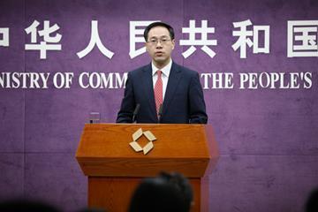 ▲중국 상무부 가오펑 대변인.(출처=상무부 홈페이지)