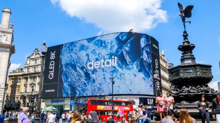▲영국 피카딜리 서커스 전광판을 장식한 삼성전자 QLED 8K TV 광고(사진제공=삼성전자)