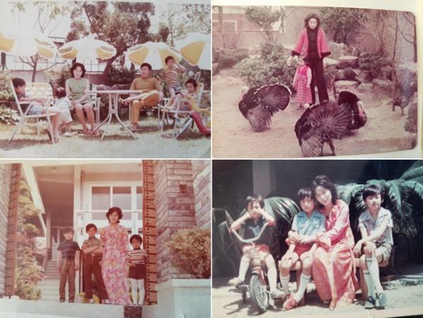 ▲젊은 시절 가족들과 함께(김봉화 제공)