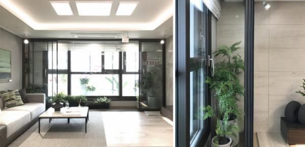 ▲견본주택에 마련된 '캐슬홈가든'의 모습(사진출처=롯데건설)