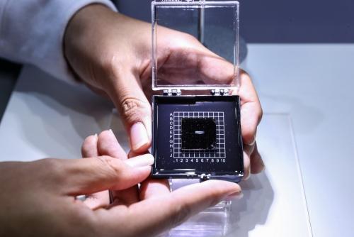 ▲하이실리콘의 AI 칩. 신화뉴시스